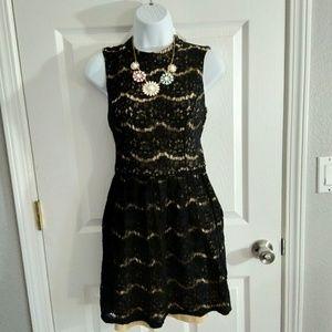 City Triangles black lace Mini dress size medium